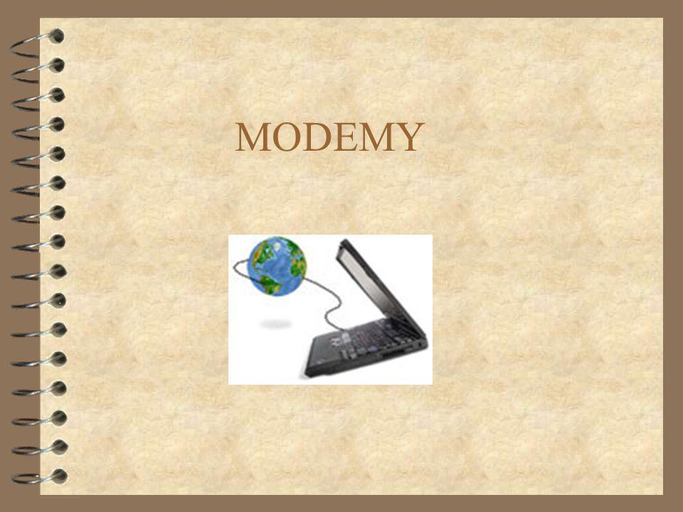 2 MODEM NÁM UMOŽŇUJE POMOCÍ STÁVAJÍCÍCH TELEFONNÍCH LINEK ZPROSTŘEDKOVAT KOMUNIKACI MEZI VZDÁLENÝMI POČÍTAČI.