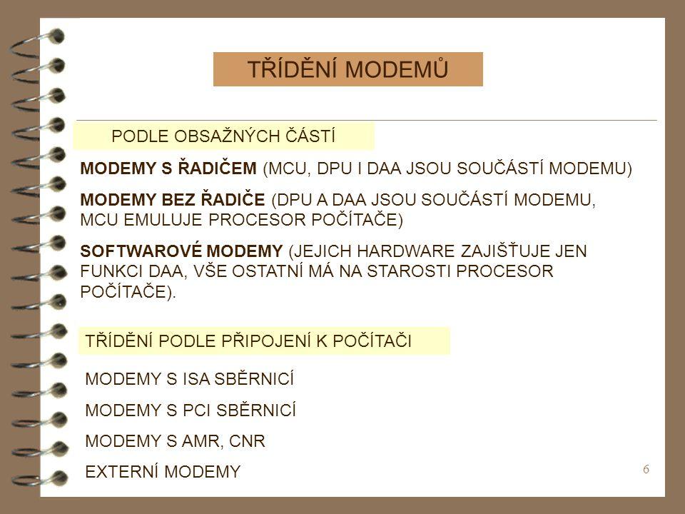 7 INTERNÍ MODEMY