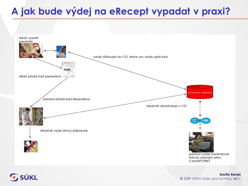 Martin Beneš © 2009 Státní ústav pro kontrolu léčiv A jak bude výdej na eRecept vypadat v praxi?