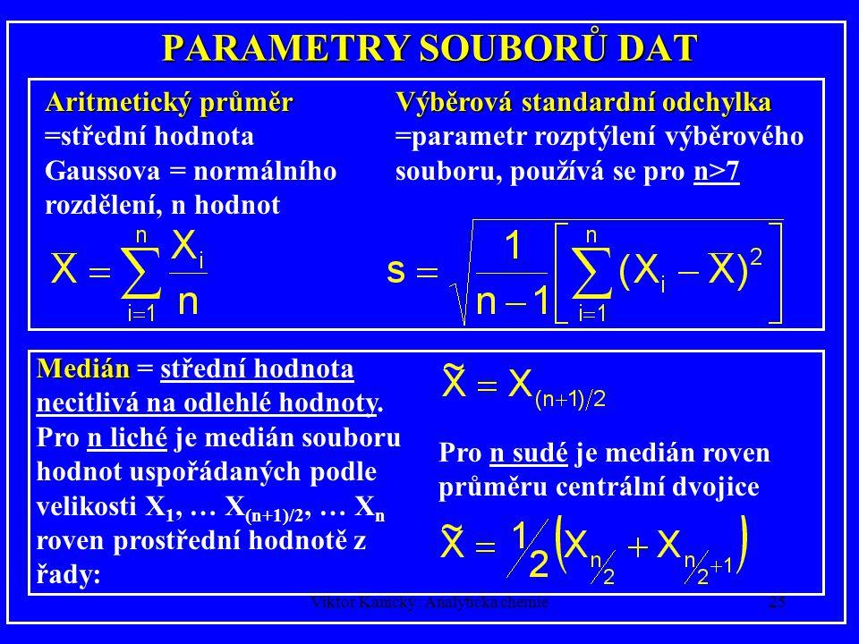 Viktor Kanický: Analytická chemie24 REPEATABILITY x TRUENESS repeatabilitydobrášpatná trueness špatná