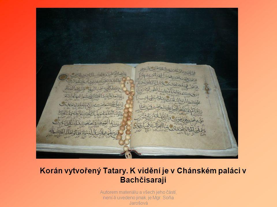 Korán vytvořený Tatary.