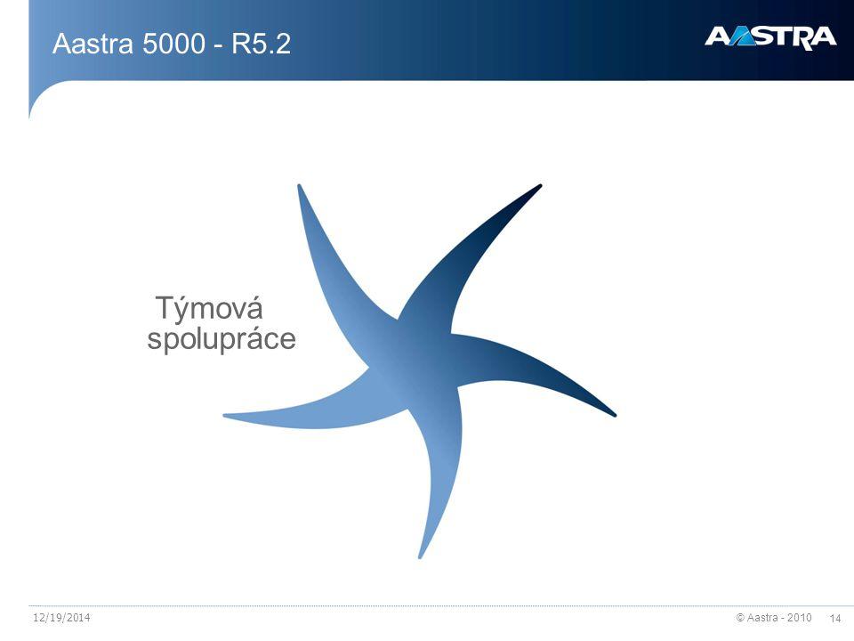 © Aastra - 2010 14 12/19/2014 Aastra 5000 - R5.2 Týmová spolupráce