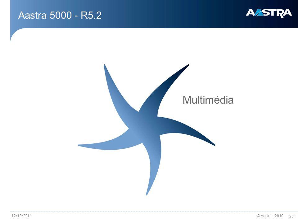 © Aastra - 2010 28 12/19/2014 Aastra 5000 - R5.2 Multimédia