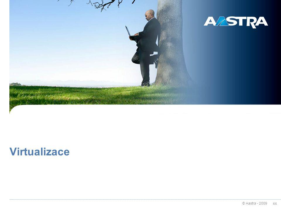 © Aastra - 2009 44 Virtualizace