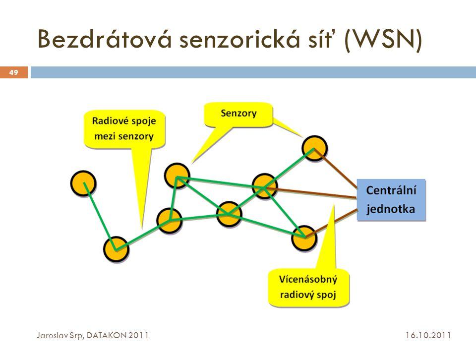 Bezdrátová senzorická síť (WSN) 16.10.2011 Jaroslav Srp, DATAKON 2011 49