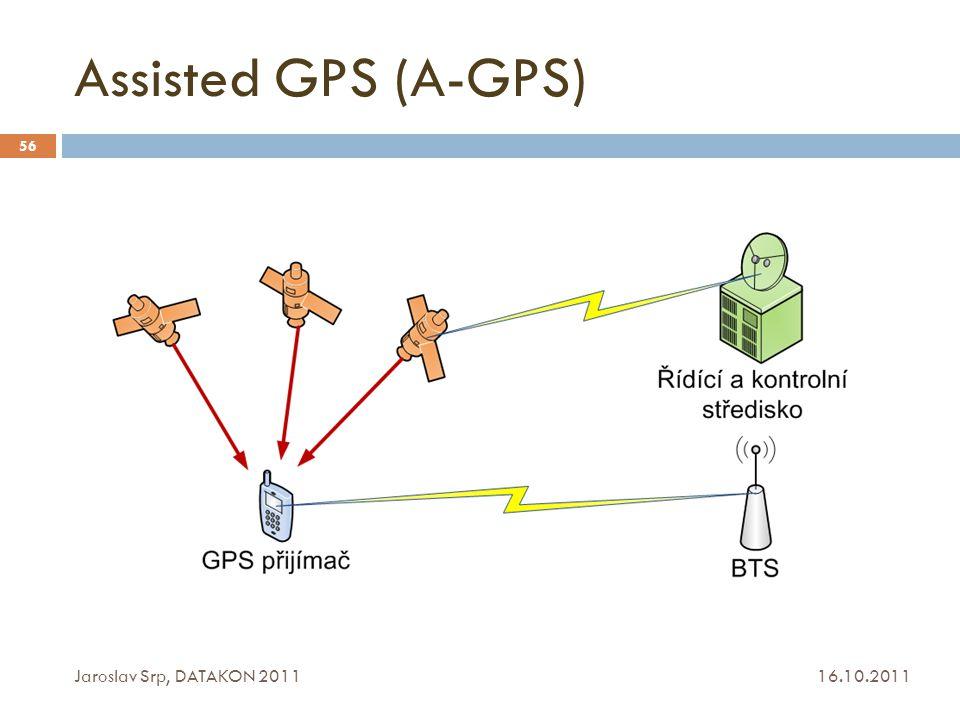 Assisted GPS (A-GPS) 16.10.2011 Jaroslav Srp, DATAKON 2011 56