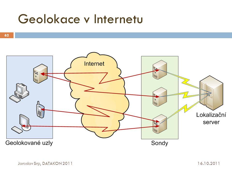 Geolokace v Internetu 16.10.2011 Jaroslav Srp, DATAKON 2011 62