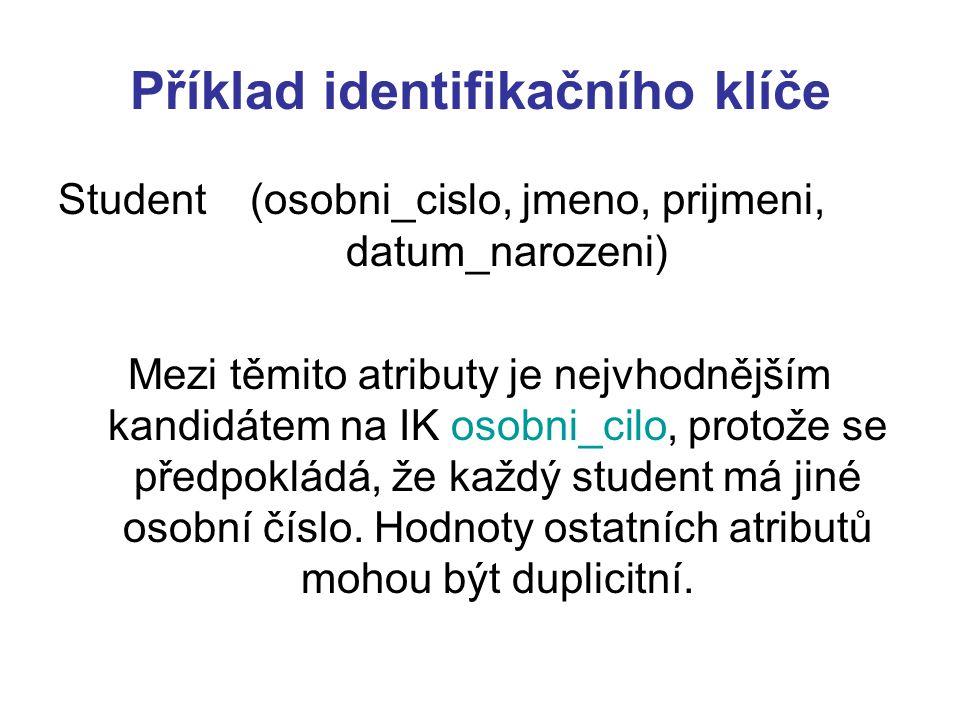 Příklad kardinality M:N