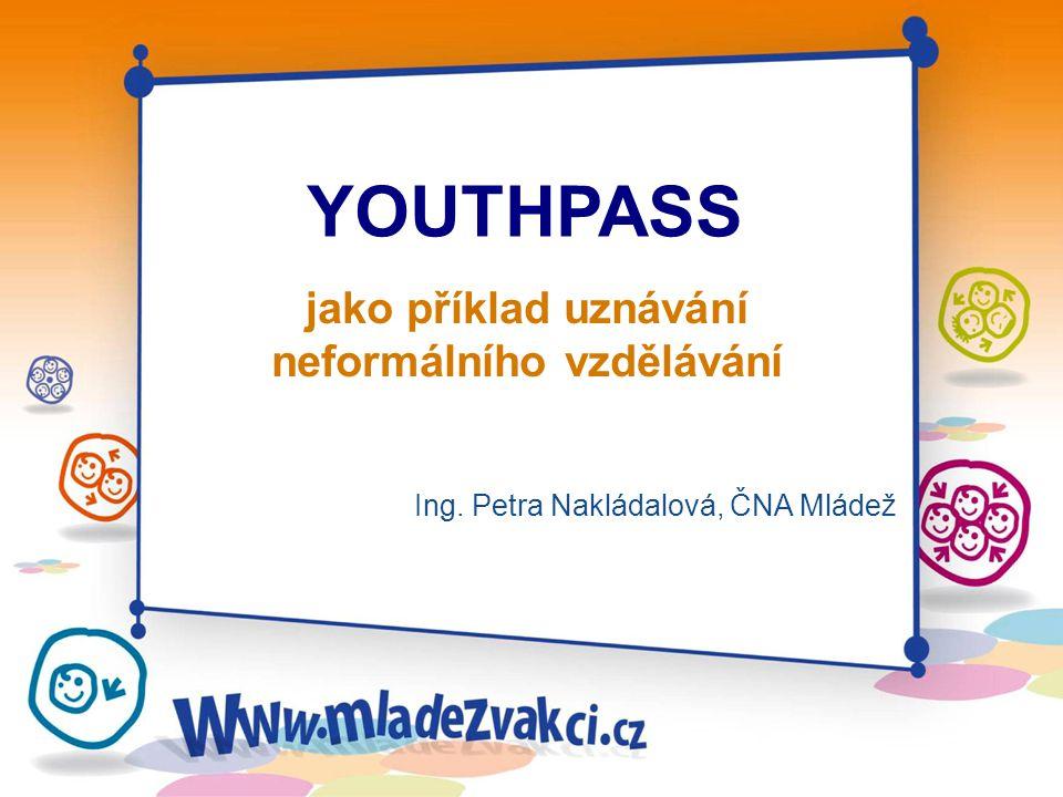 jako příklad uznávání neformálního vzdělávání Ing. Petra Nakládalová, ČNA Mládež YOUTHPASS