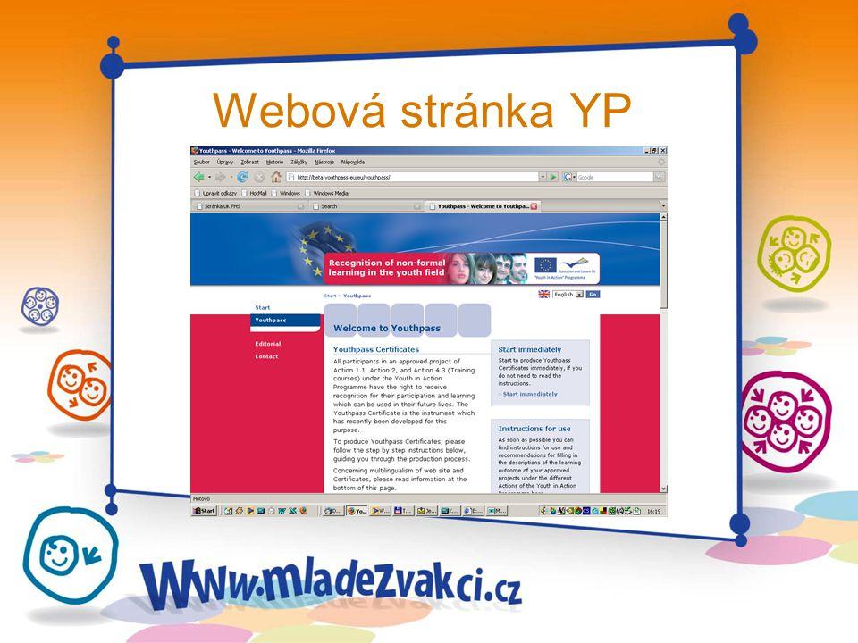Webová stránka YP
