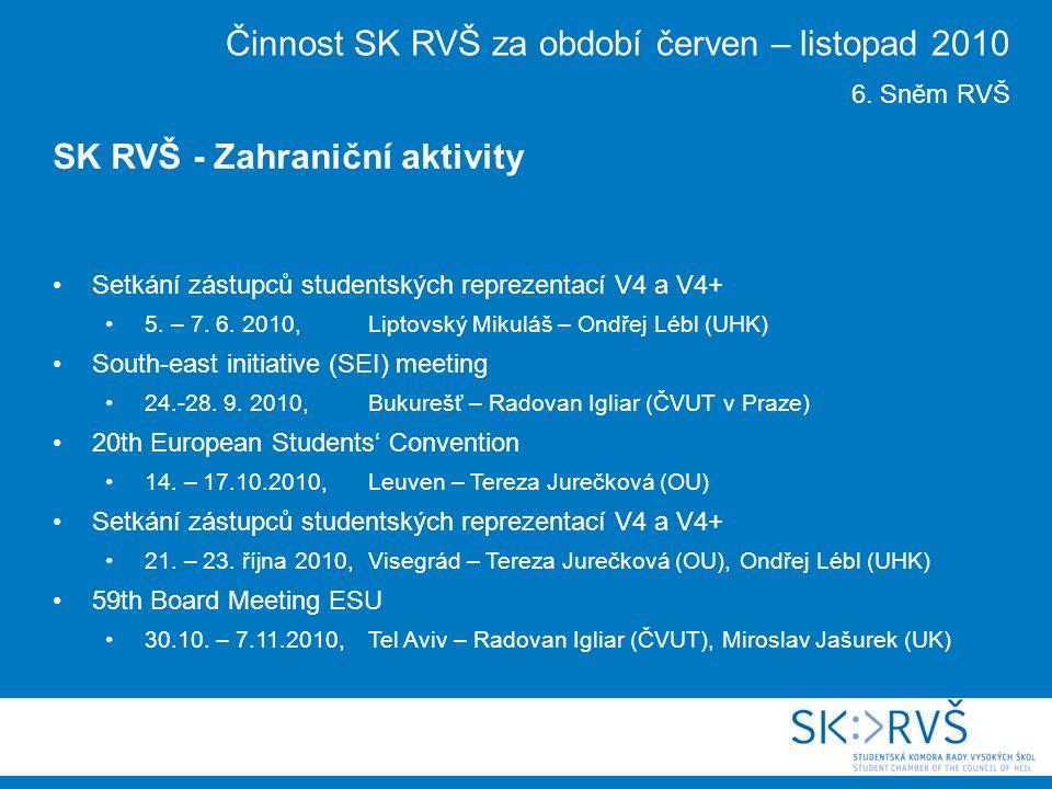 Setkání zástupců studentských reprezentací V4 a V4+ 5.