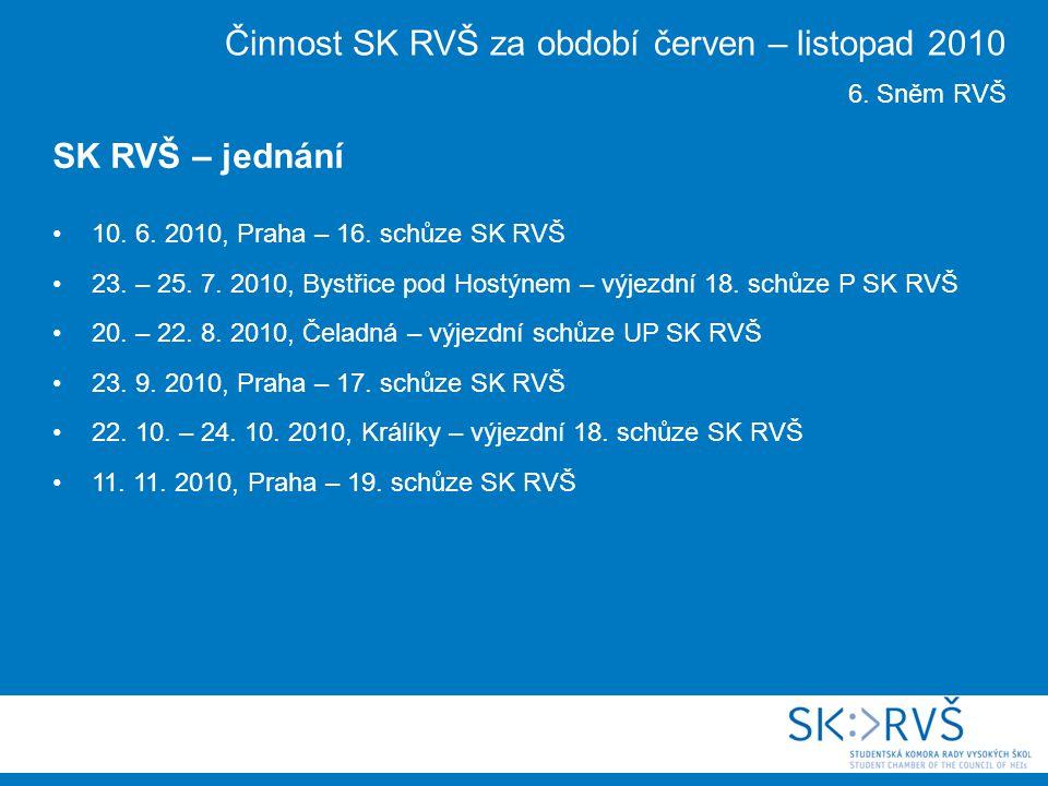 10. 6. 2010, Praha – 16. schůze SK RVŠ 23. – 25.