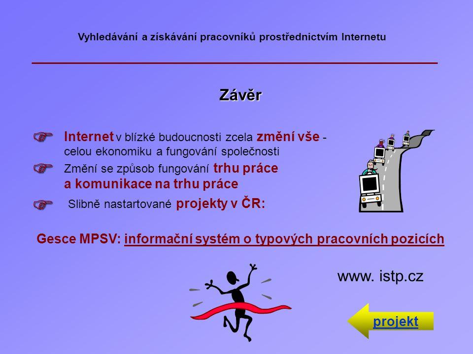 Nejčastěji navštěvované Internetové adresy nabízející pracovní místa a poskytující poradenské služby uchazečům o zaměstnání  http/www.jobatlas cz  h