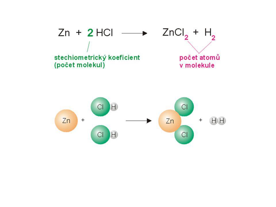 Výpočty stechiometrických koeficientů: = vyčíslení rovnic 1) u neredoxních rovnic – z podmínky zachování druhů atomů – jednoduché počty, nemění se oxid.