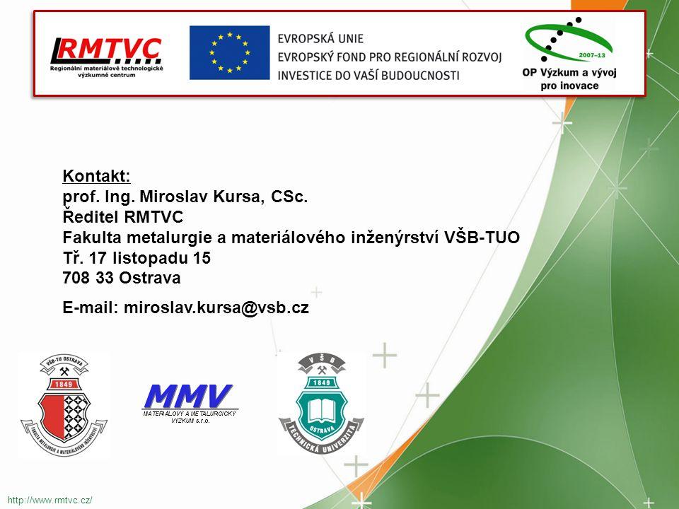 Kontakt: prof.Ing. Miroslav Kursa, CSc.