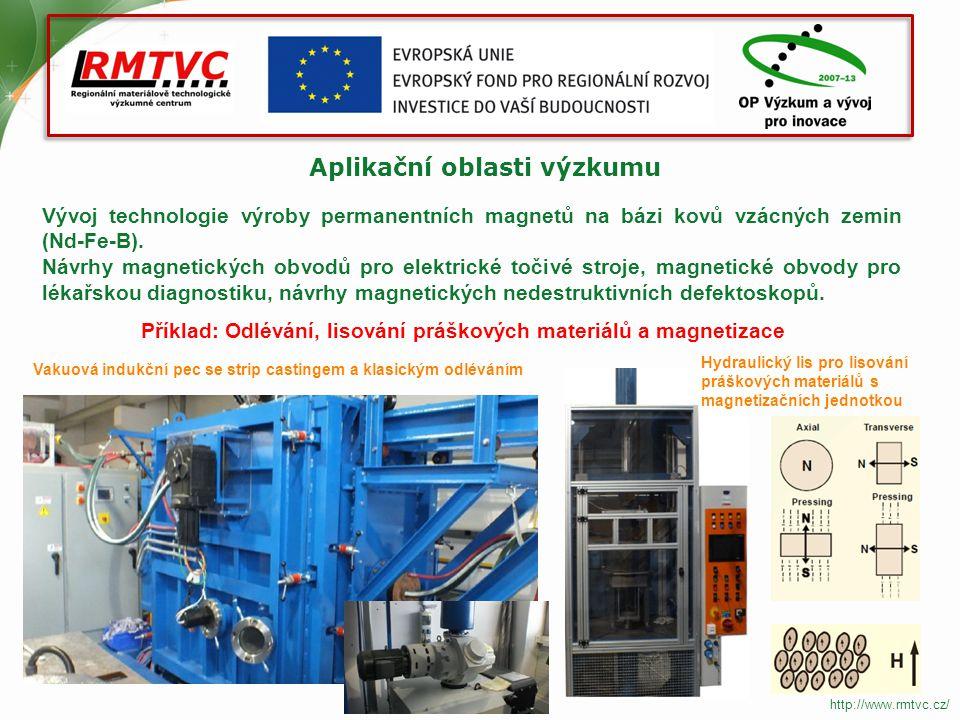Aplikační oblasti výzkumu Získávání jemnozrnných mikrostruktur u konstrukčních kovových materiálů v podmínkách tradičních i progresivních technologií podélného válcování.