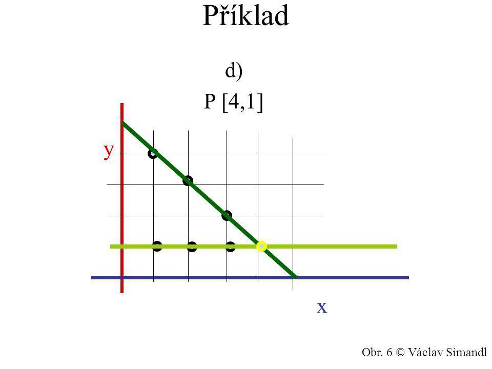 Příklad d) P [4,1] y x Obr. 6 © Václav Simandl