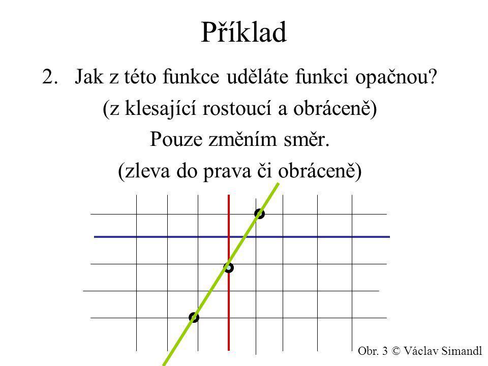 Příklad 2.Jak z této funkce uděláte funkci opačnou.