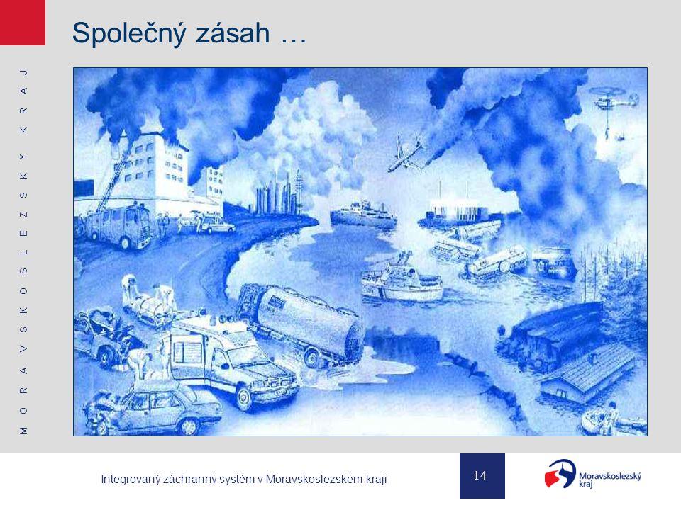 M O R A V S K O S L E Z S K Ý K R A J 14 Integrovaný záchranný systém v Moravskoslezském kraji Společný zásah …