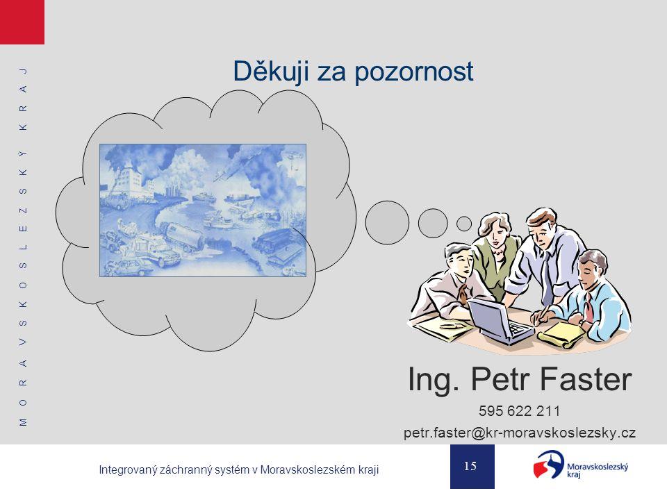 M O R A V S K O S L E Z S K Ý K R A J 15 Integrovaný záchranný systém v Moravskoslezském kraji Děkuji za pozornost Ing.