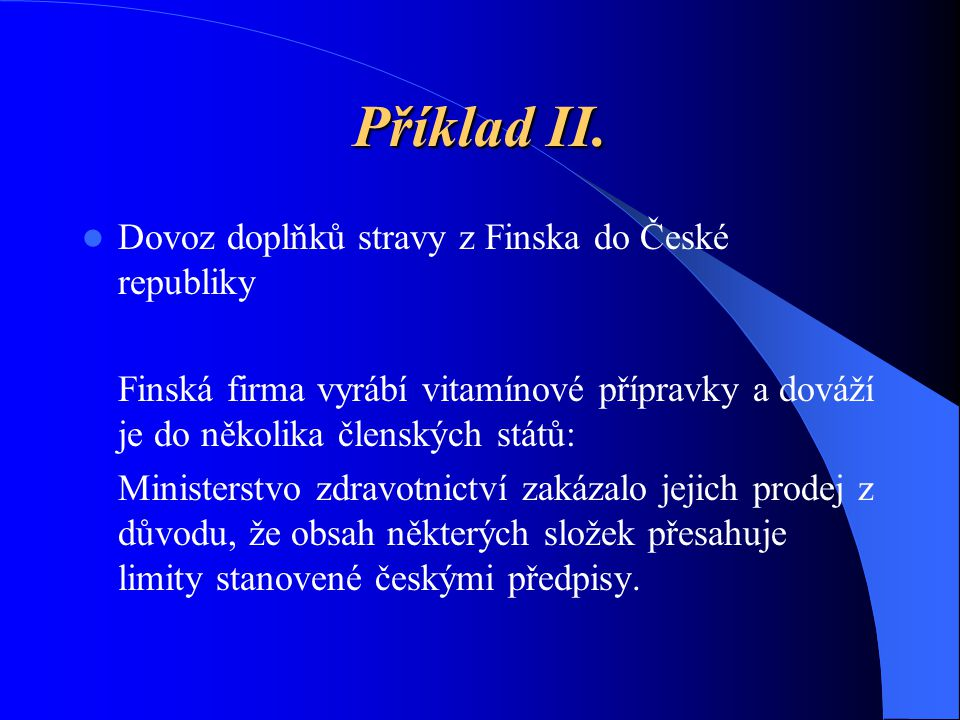 Příklad II.