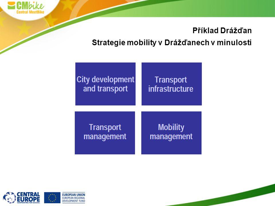 Příklad Drážďan Strategie mobility v Drážďanech v minulosti