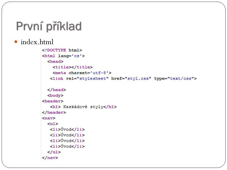 První příklad index.html