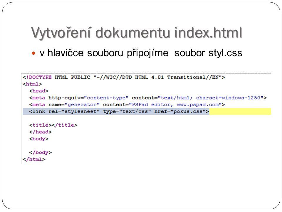 První příklad – odkazy styl.css na odkaz nebylo kliknuto odkaz po kliknutí odkaz při přejetí myší