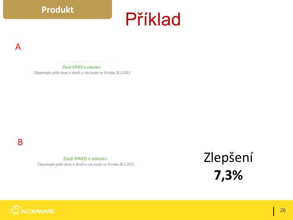 Příklad 26 | Produkt Zlepšení 7,3% A B