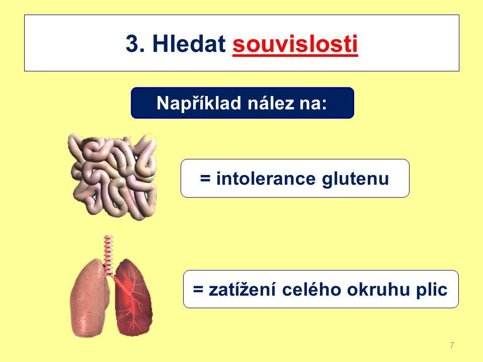 Další příklad: nález v nervovém systému lobus parietalis = poruchy imunity lobus insulae = atopie mezencefalon = únavový syndrom (CFS) a tak dále 8