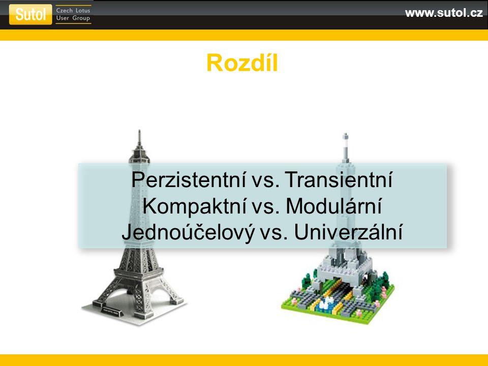 www.sutol.cz Rozdíl Perzistentní vs. Transientní Kompaktní vs.