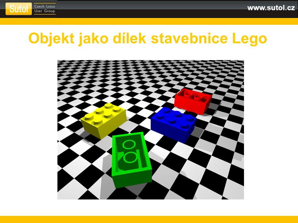 www.sutol.cz Objekt jako dílek stavebnice Lego