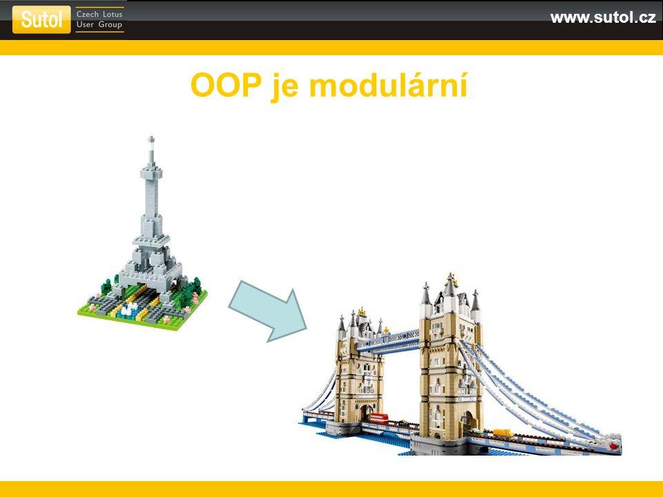 www.sutol.cz OOP je modulární