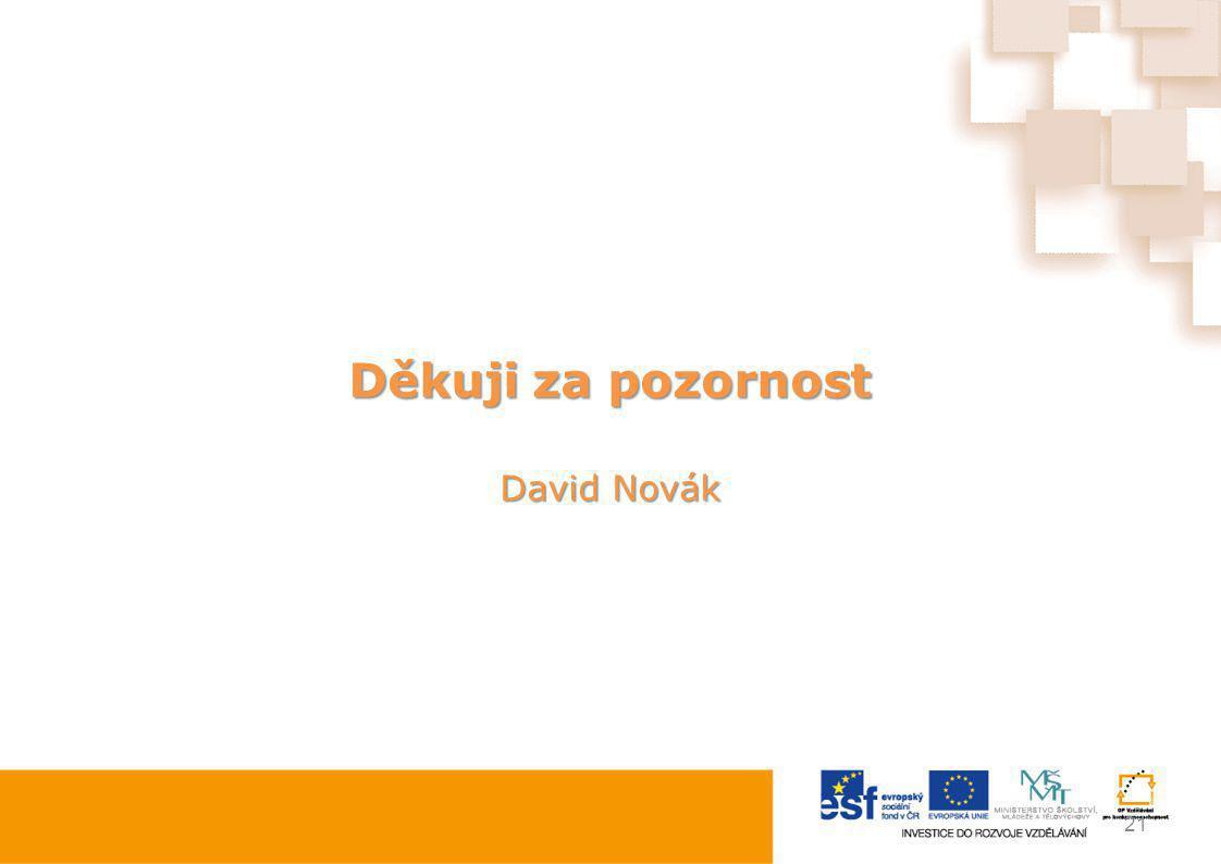 Děkuji za pozornost David Novák 21