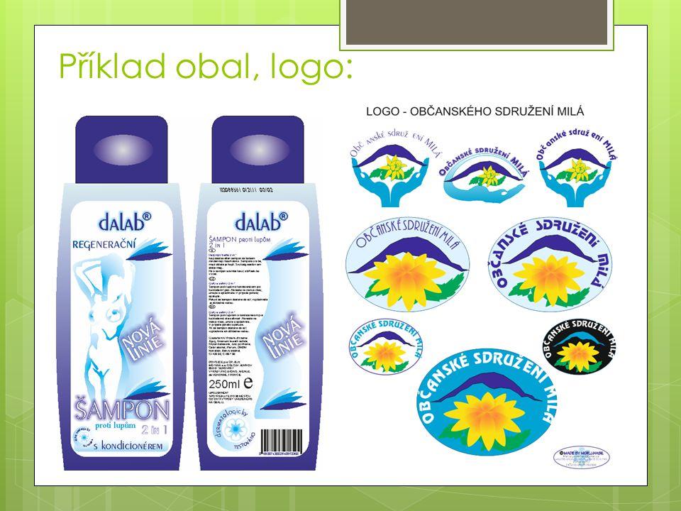 Příklad obal, logo: