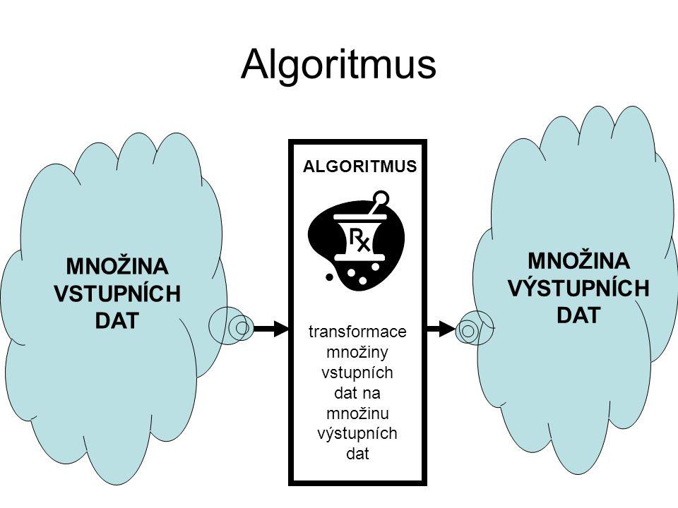 Vlastnosti algoritmu Elementárnost.