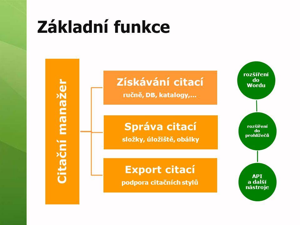 Importy citací