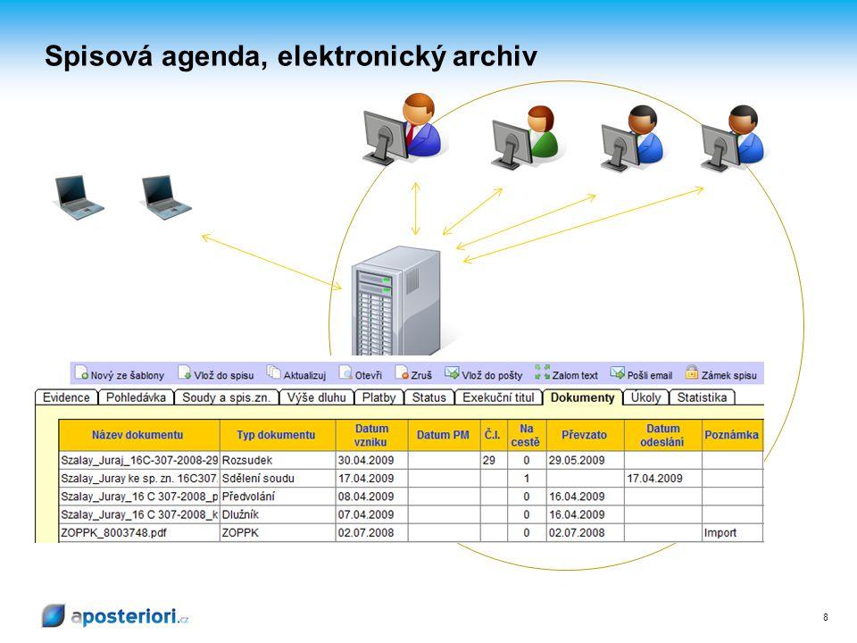 LAN Spisová agenda, elektronický archiv 8