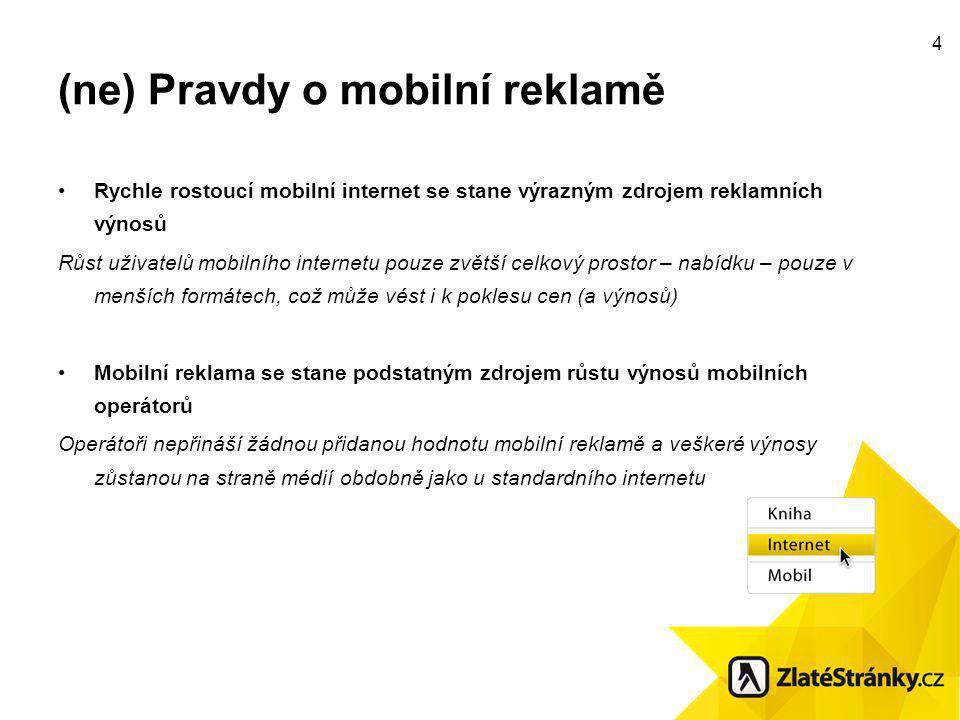 5 Ekosystém mobilního internetu Mobilní operátoři Média Firmy