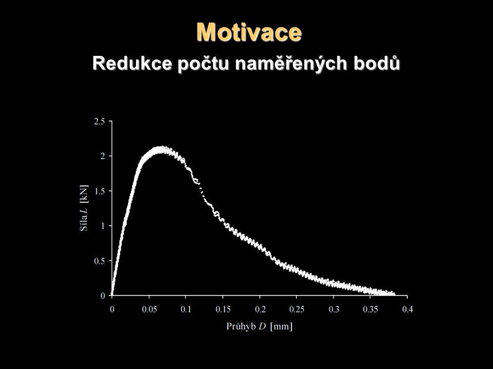 Motivace Redukce počtu naměřených bodů