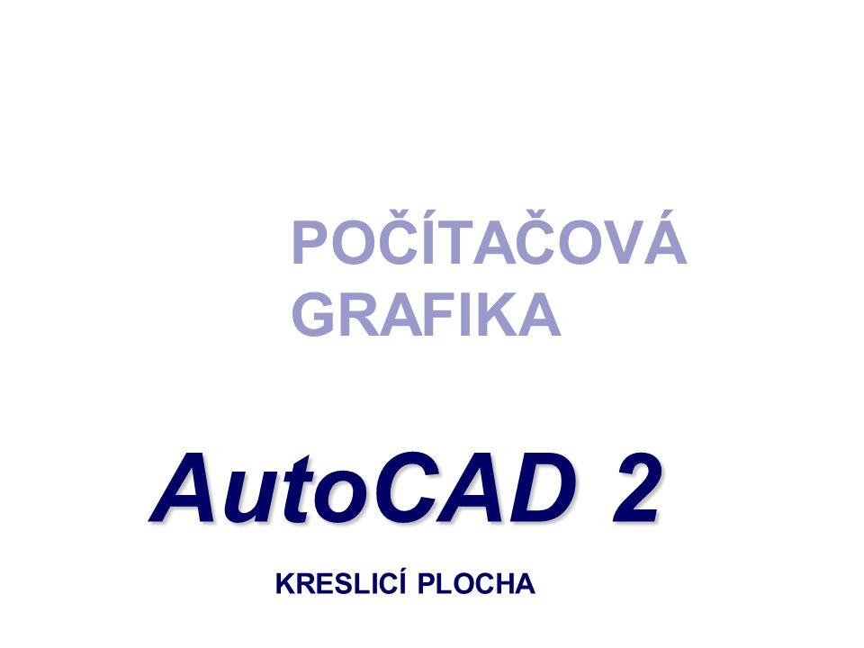 POČÍTAČOVÁ GRAFIKA AutoCAD 2 KRESLICÍ PLOCHA