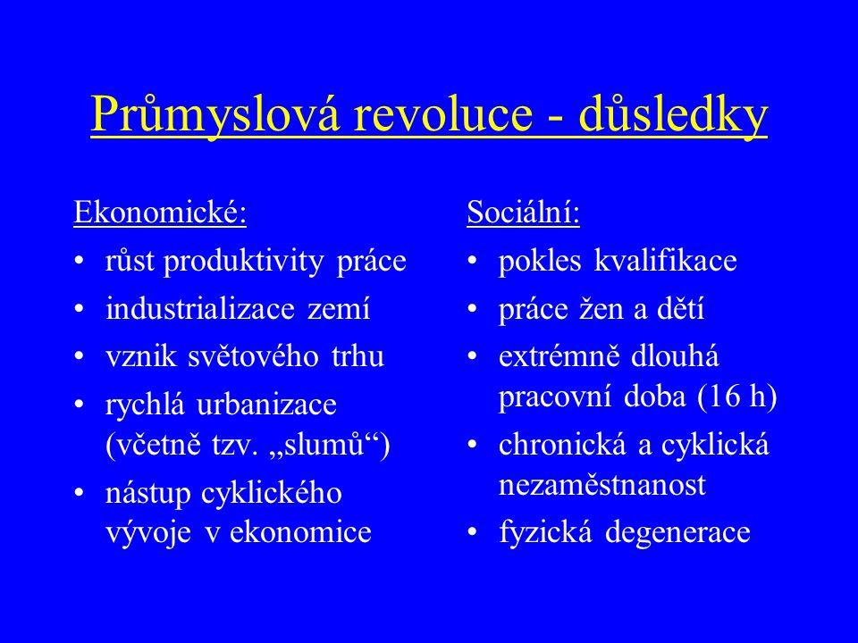 Průmyslová revoluce - průběh V.