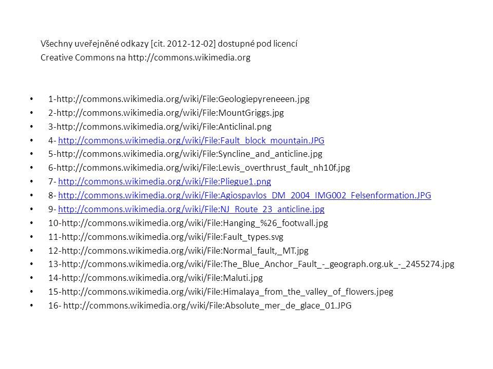 Všechny uveřejněné odkazy [cit. 2012-12-02] dostupné pod licencí Creative Commons na http://commons.wikimedia.org 1-http://commons.wikimedia.org/wiki/