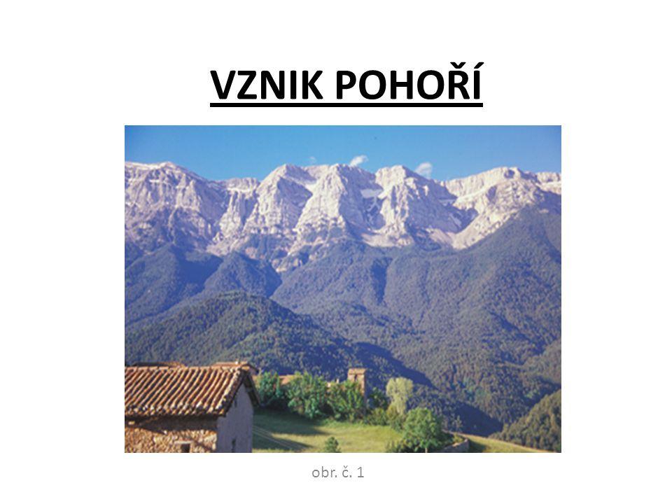 VZNIK POHOŘÍ obr. č. 1
