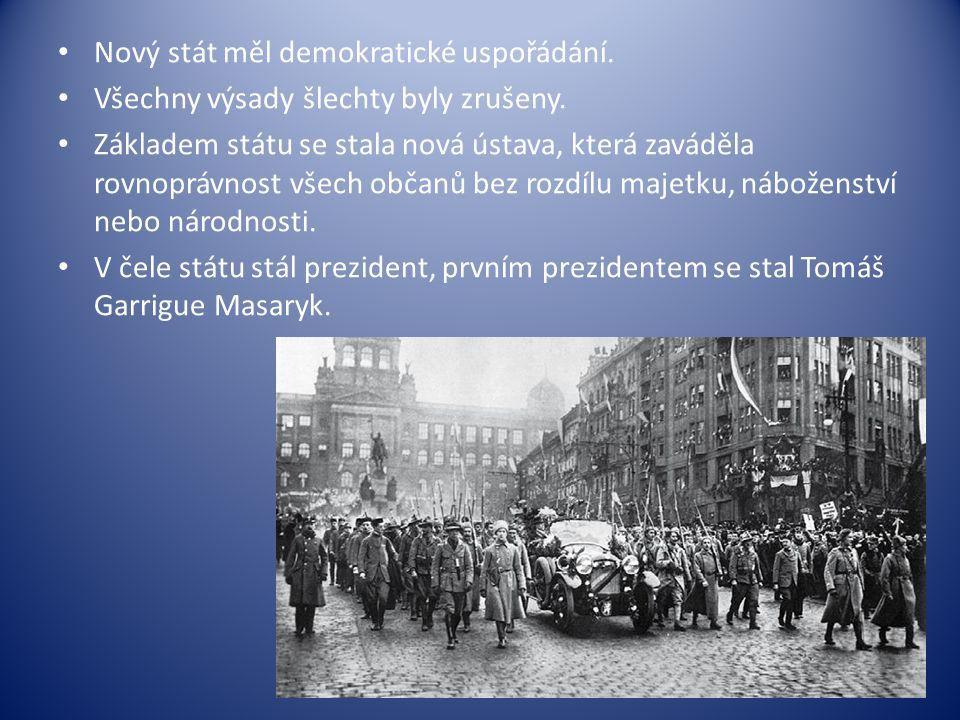 Nový stát měl demokratické uspořádání. Všechny výsady šlechty byly zrušeny. Základem státu se stala nová ústava, která zaváděla rovnoprávnost všech ob