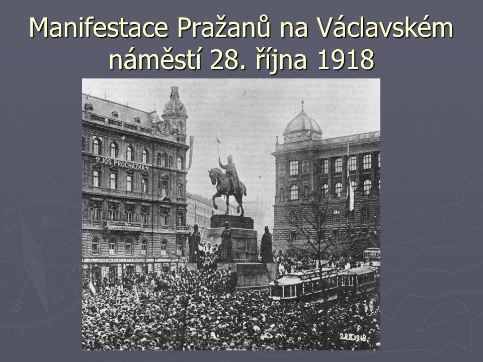 Manifestace Pražanů na Václavském náměstí 28. října 1918