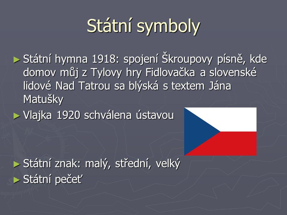 Malý státní znak ► Český lev se slovenským štítem ► A dnes: