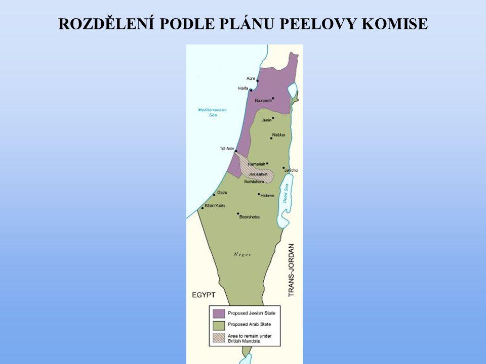 OBDOBÍ 2.SVĚTOVÉ VÁLKY v důsledku Holocaustu výrazně stoupá ilegální přistěhovalectví do Palestiny Během 2.sv.v.