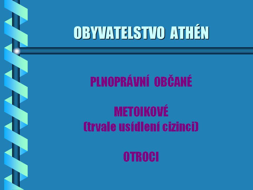 OBYVATELSTVO ATHÉN