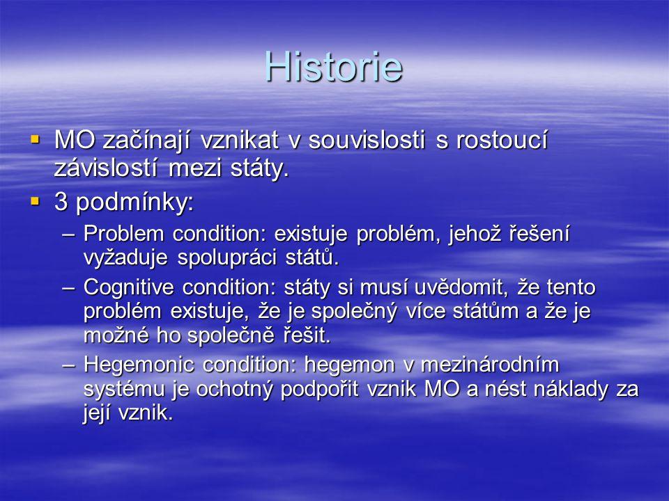 Historie MO v oblasti bezpečnosti  NATO: –Kolektivní bezpečnost → útok na jednoho člena je chápán jako útok na všechny, ale závisí na každém státu, jaká opatření přijme.